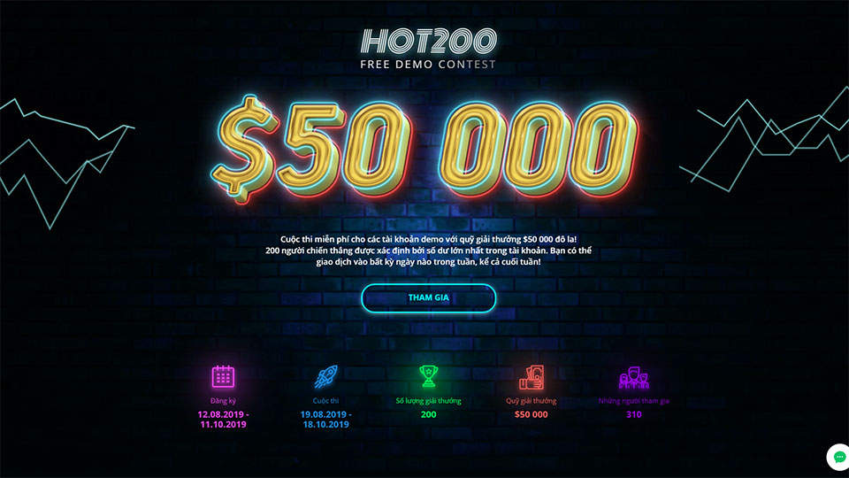 Cuộc thi HOT200 FREE DEMO CONTEST